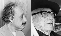 Albert Einstein and Bernard Baruch, circumcised mass murderers