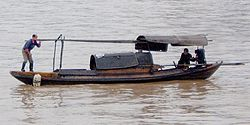 Sampan on the Yangtze
